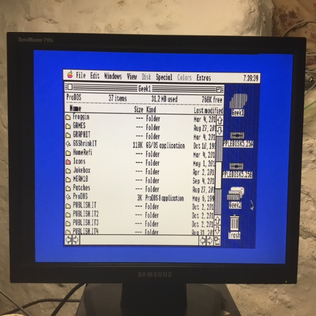 Apple IIGS VGA Adapter on Samsung 710N - Main Screen